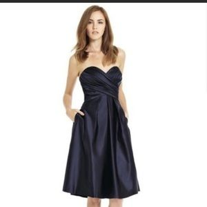 Bill Levkoff dark navy bridesmaid dress!!